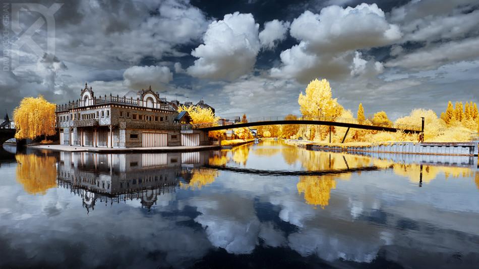 keochkerian眼中的风景不单单强调季节的色彩变化,简直就是科幻小说中